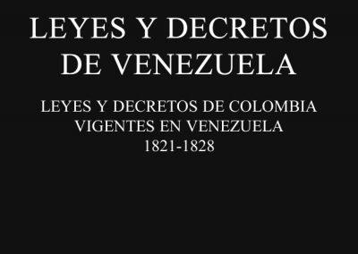 Leyes y Decretos de Venezuela 1821-1922