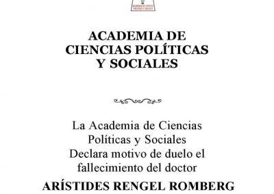 Acuerdo de duelo Dr. Rengel Romberg