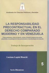 La responsabilidad precontractual en el derecho comparado moderno y en Venezuela