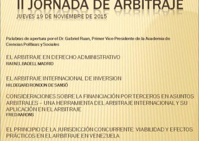 II Jornada de Arbitraje