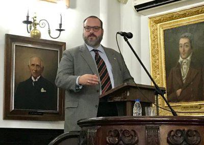 """El 15 de octubre de 2019 se realizó la conferencia """"Los fundamentos ideológicos del sistema político chavista"""", a cargo del profesor Guillermo Tell Aveledo"""